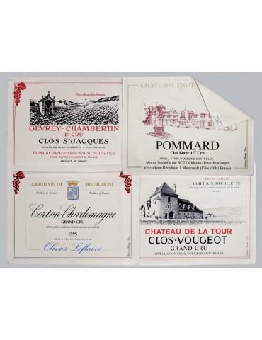 Lot 4 Sets de Table Tissu Bourgogne 8495149104Torchons & Bouchons