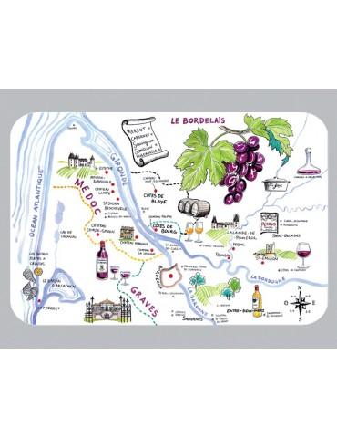 Set de Table Dessin Vignoble Bordeaux 8499308000Torchons & Bouchons