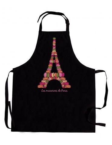 Tablier Macarons de Paris Noir 3523070000Torchons & Bouchons