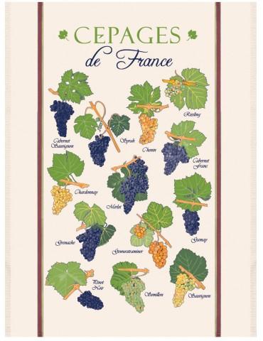 GRAND TORCHON PLANCHE CEPAGES DE France ECRU 3051100000Torchons & Bouchons