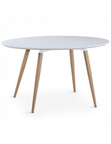Table ovale scandinave Sissi Blanc m405blanc