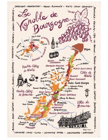 Torchon La Carte Des Bourgognes 9009015000Torchons & Bouchons