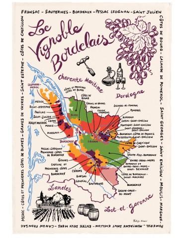 Torchon La Carte Des Bordeaux 9011015000Torchons & Bouchons