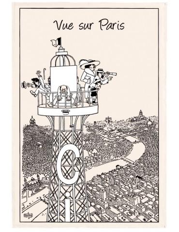 Torchon Dubout Vue sur Paris Ecru 48 x 72 2284010000Torchons & Bouchons