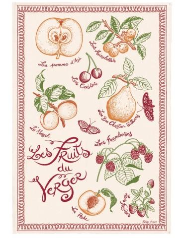 Torchon Imprimé Les fruits du verger Ecru 48 x 72 2394010000Torchons & Bouchons