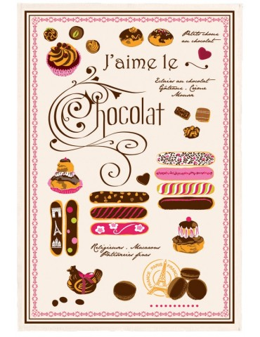 Torchon Éclairs au chocolat Ecru 48 x 72 3051092000Torchons & Bouchons