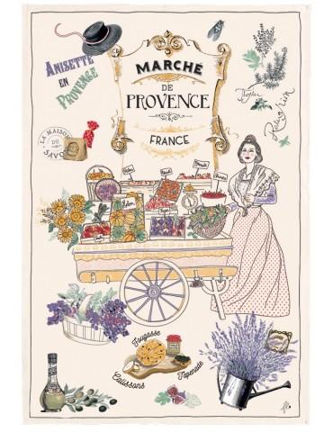 Torchon Les marchés de Provence Ecru 48 x 72 4396010000Torchons & Bouchons