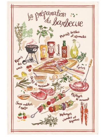Torchon Le barbecue Ecru 48 x 72 4406010000Torchons & Bouchons