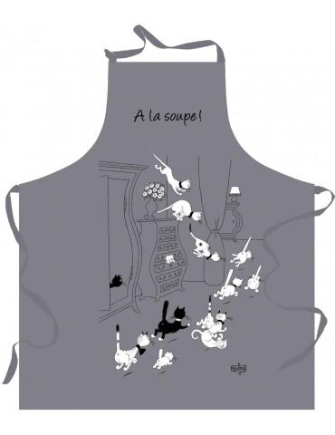 Tablier de cuisine Dubout a la soupe Gris 72 x 85 4847070000Torchons & Bouchons
