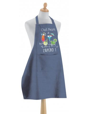 Tablier de cuisine L'apéro Bleu denim 90 x 72 4902060000Torchons & Bouchons