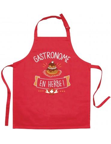 Tablier de cuisine enfant Gastronome en herbe Rouge 52 x 63 4904030000Torchons & Bouchons