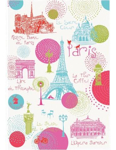 Torchon Paris Ronds Blanc 48 x 72 8491061000Torchons & Bouchons