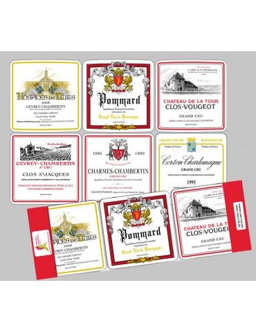 Lot de 6 sous-verres Bourgogne 10 x 10 8535090106Torchons & Bouchons