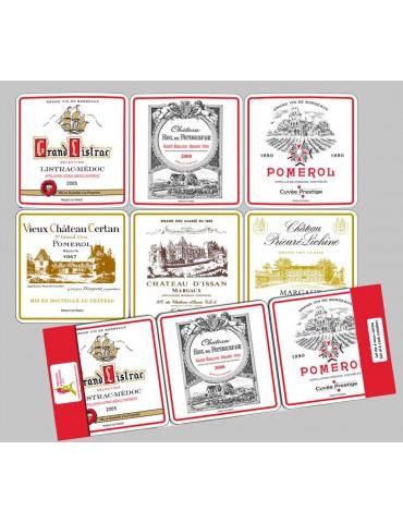 Lot de 6 sous-verres Bordeaux 10 x 10 8552090106Torchons & Bouchons