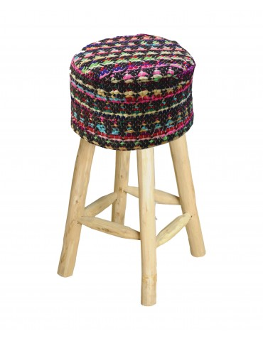 housse de tabouret prizma charbon 40 x 40 x 40 1033078001. Black Bedroom Furniture Sets. Home Design Ideas