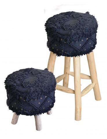 Housse de tabouret Roja Noir 40 x 40 1033078050The Rug Republic