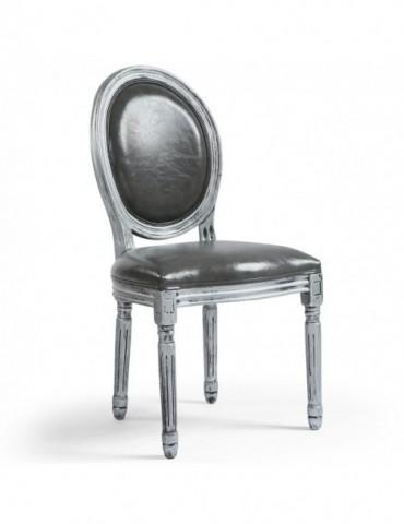 Lot de 20 chaises de style médaillon Louis XVI Simili (P.U) Gris bois patiné Argent 24501ksp25011lot20