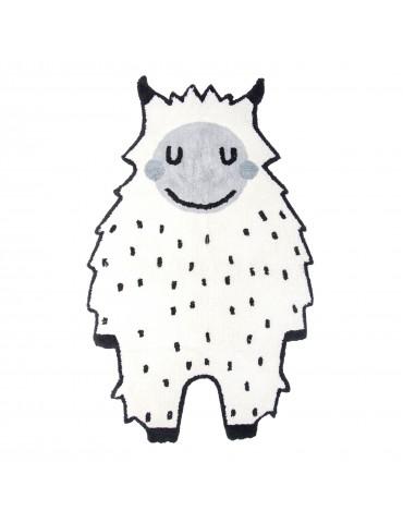 Tapis Little Bigfoot Noir/blanc 90 x 140 1033000013Nattiot