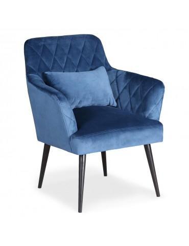 Fauteuil scandinave Octave Velours Bleu lf0135hlr68