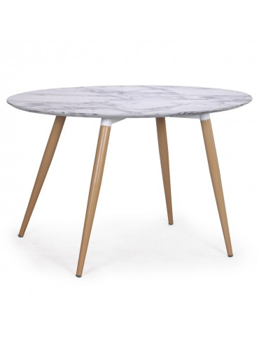 Table ovale scandinave Sissi Marbre m405marble