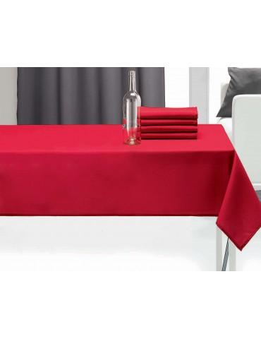 Nappe rectangulaire uni pes Rouge 140 x 240 1474030601Les Ateliers du Linge