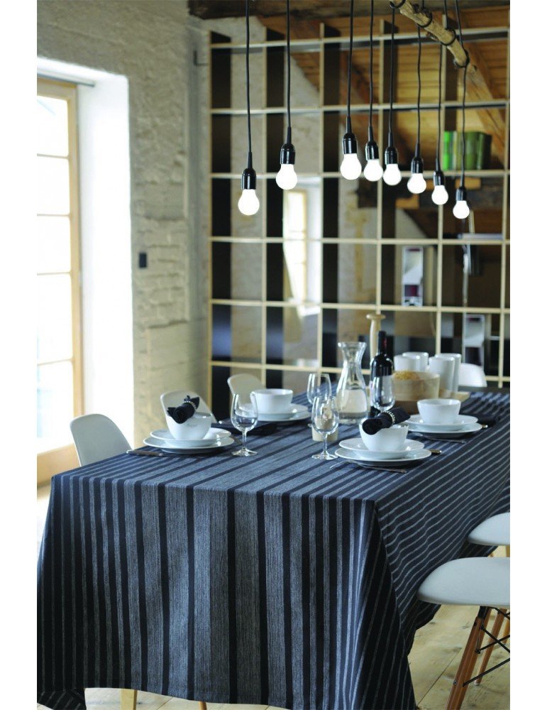 Nappe banquet Noir 170 x 170 4374071000Les Ateliers du Linge