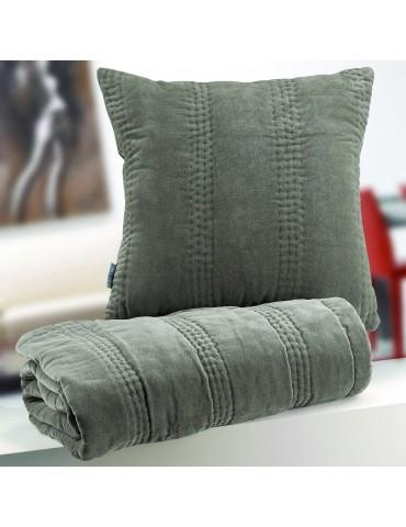 Coussin Velvet Garni Taupe 45 x 45 6365085401Les Ateliers du Linge