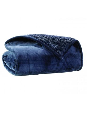 Plaid Lux Bleu 150 x 200 8630041401Les Ateliers du Linge