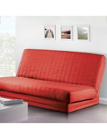 Housse de clic-clac Quadro Rouge 140 x 200 2079030401Les Ateliers du Linge