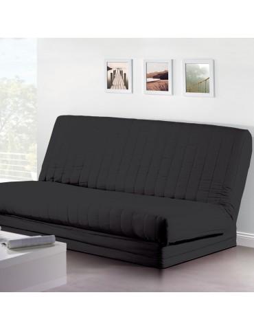 Housse de clic-clac Quadro Noir 140 x 200 2079078401Les Ateliers du Linge