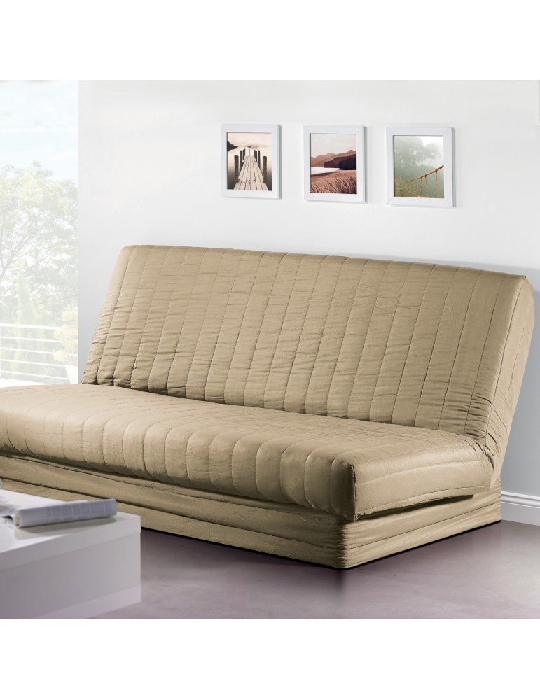 Housse de clic-clac Quadro Argile 140 x 200 2079080401Les Ateliers du Linge