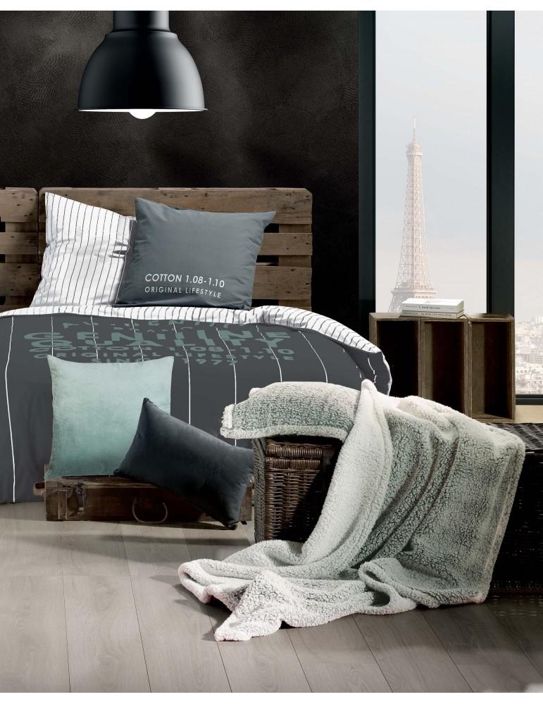 Parure de lit 2 personnes Crafty Quartz Imprimé 240 x 220 7857000503Les Ateliers du Linge