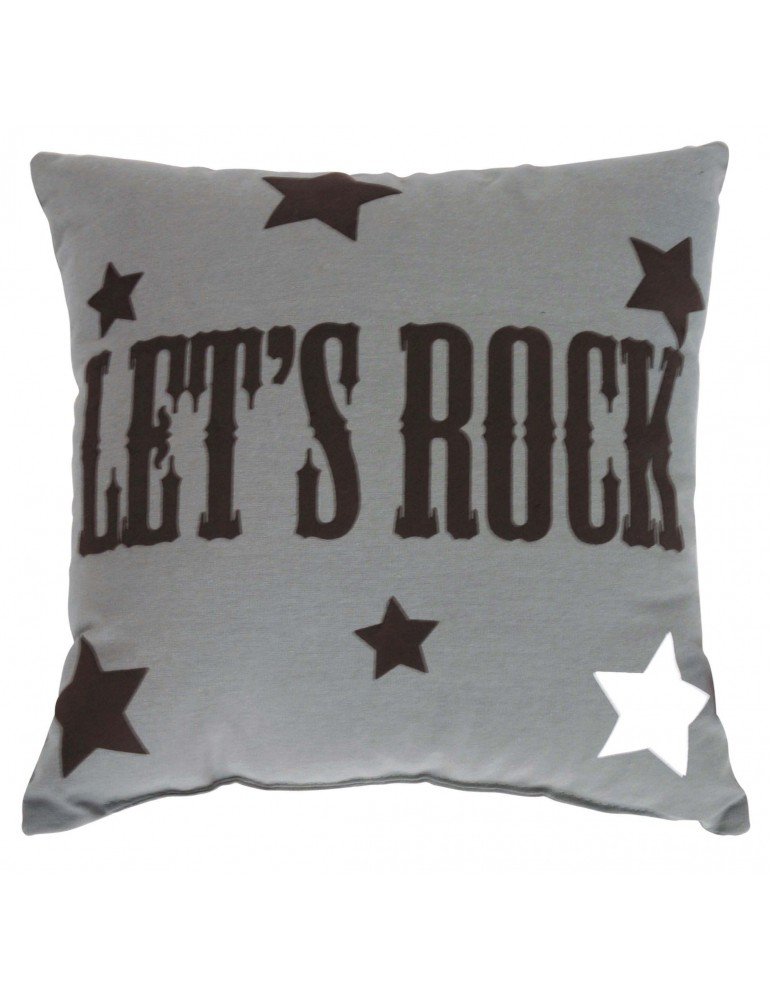 Coussin carré Rock Gris 30 x 30 4821071000Les Ateliers du Linge