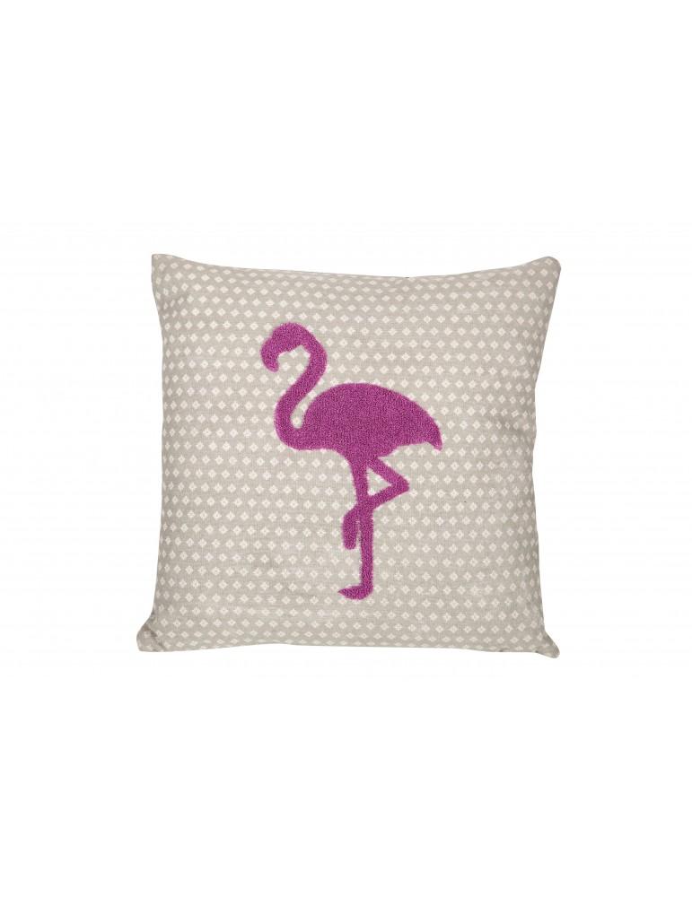 Coussin Flamingo Cement 40 x 40 4554061000Les Ateliers du Linge
