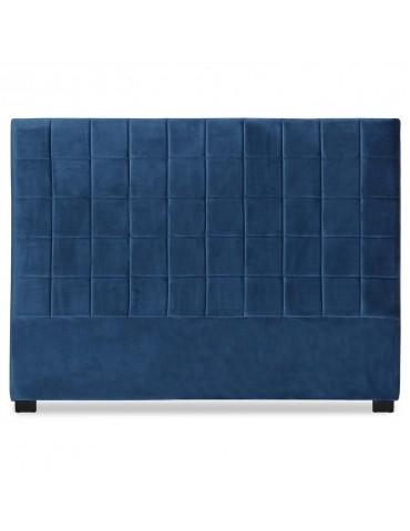 Tête de lit Chess 160cm Velours Bleu lf260160vbleu