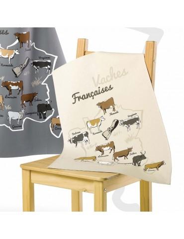 Torchon vaches françaises Écru 48 x 72 8866090000Les Ateliers du Linge