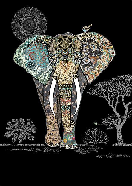 Illustration elephant JEWEL BugArt