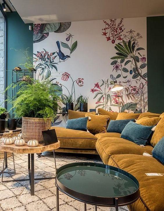 avec quelles couleurs associer le jaune moutarde en d co. Black Bedroom Furniture Sets. Home Design Ideas