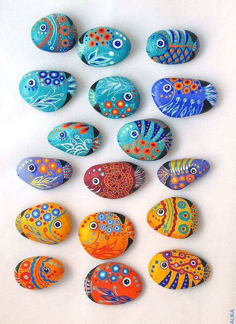 galets poissons magnets