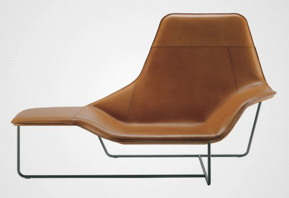 Contemporary lounge chair steel leather fabric - LAMA 921 by Ludovica & Roberto Palomba - Zanotta
