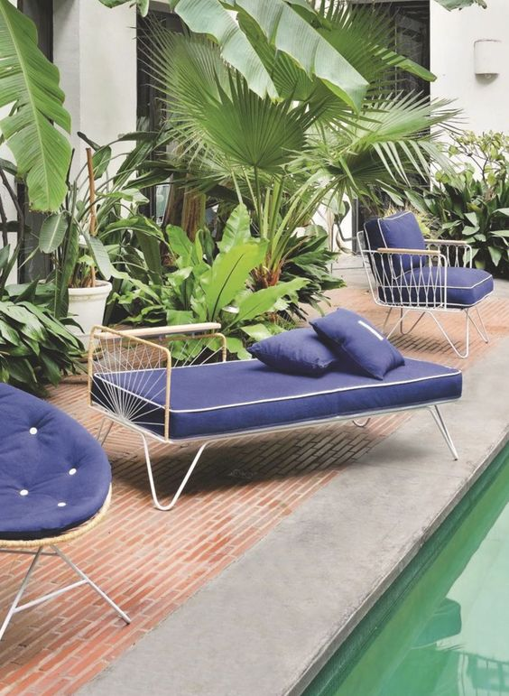 Carmen méridienne lounge chair, vintage style daybed