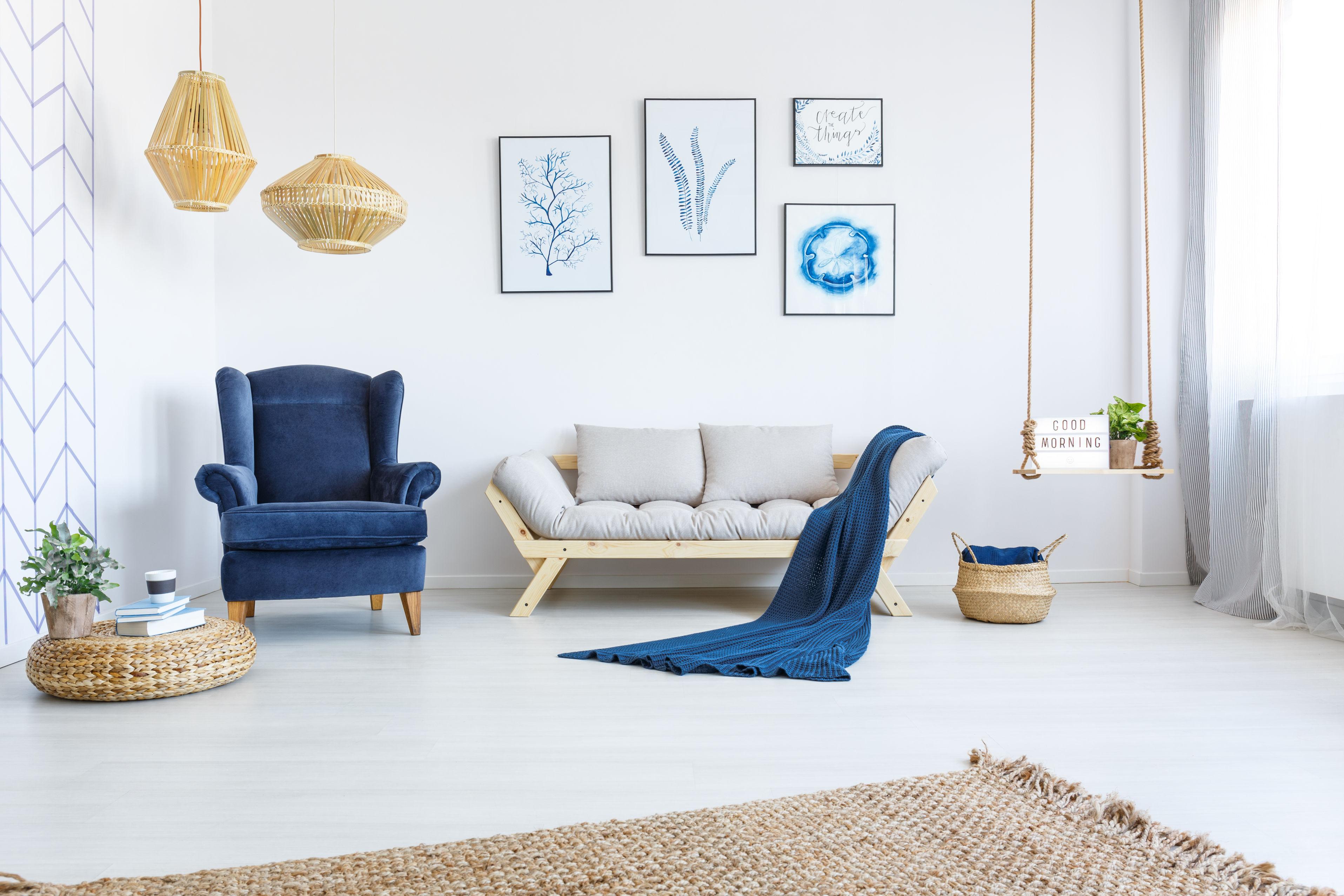Salon avec tapis en jonc de mer pour une deco scandicraft 78851555_xl