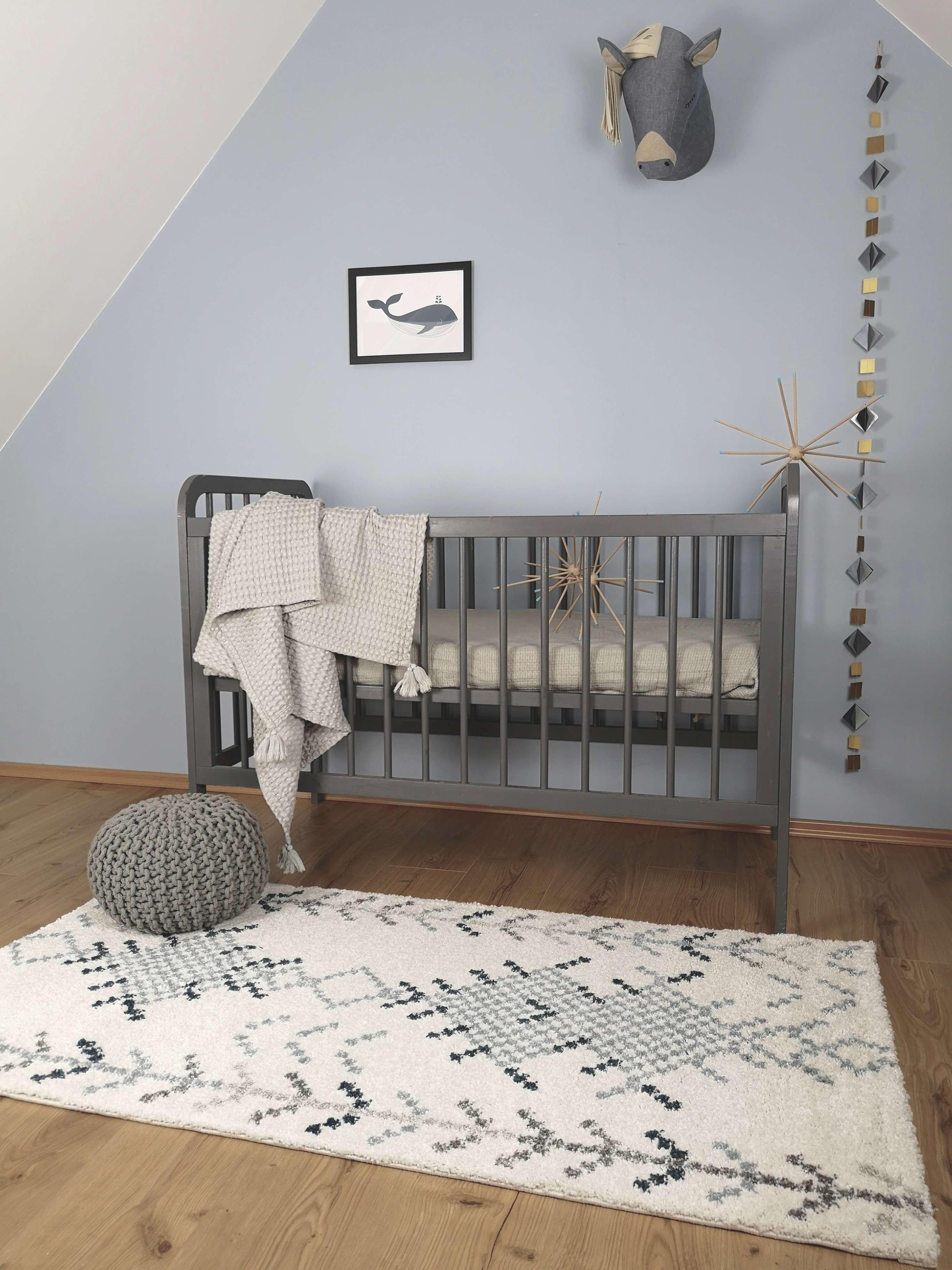 tapis en polypropylene Anise_écru&bleu_ambiance
