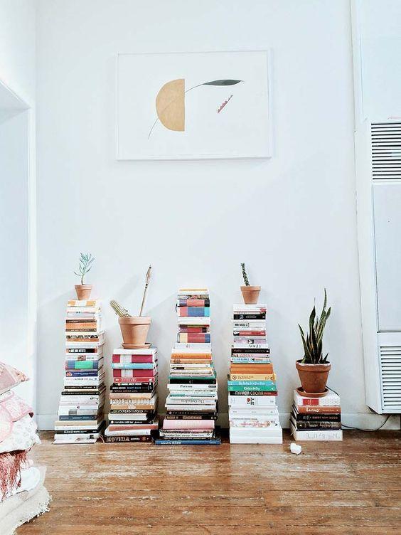 Tsundoku pile de livres