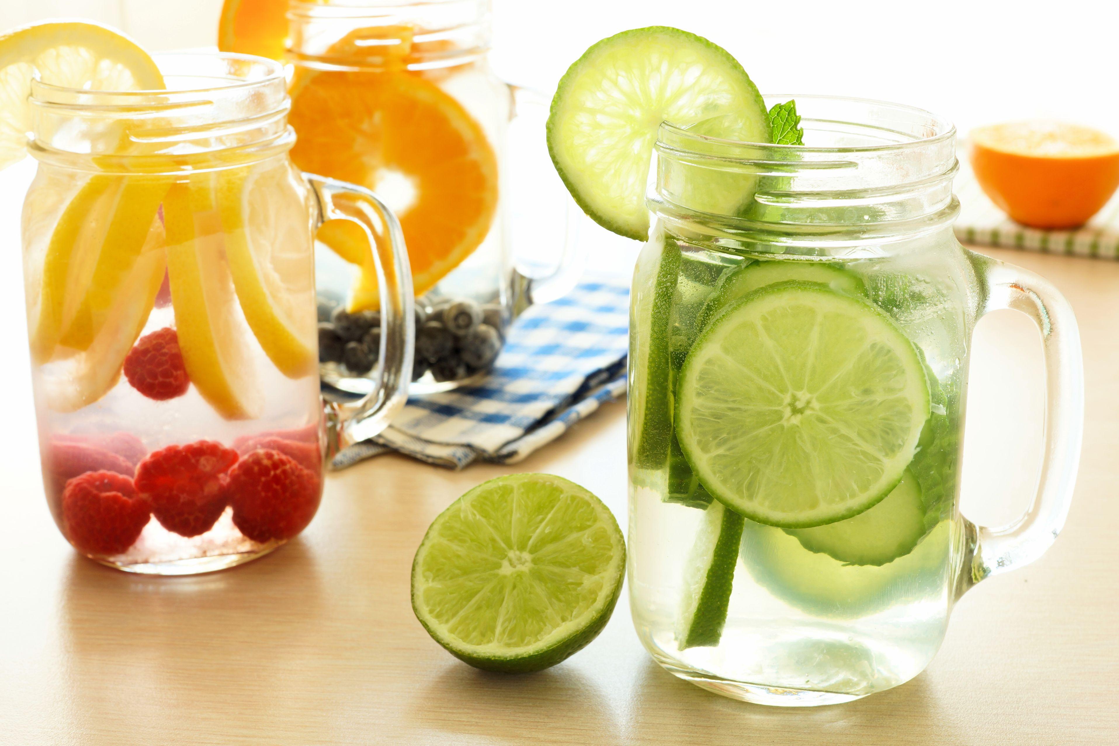 bocal boisson fruitée fraiche