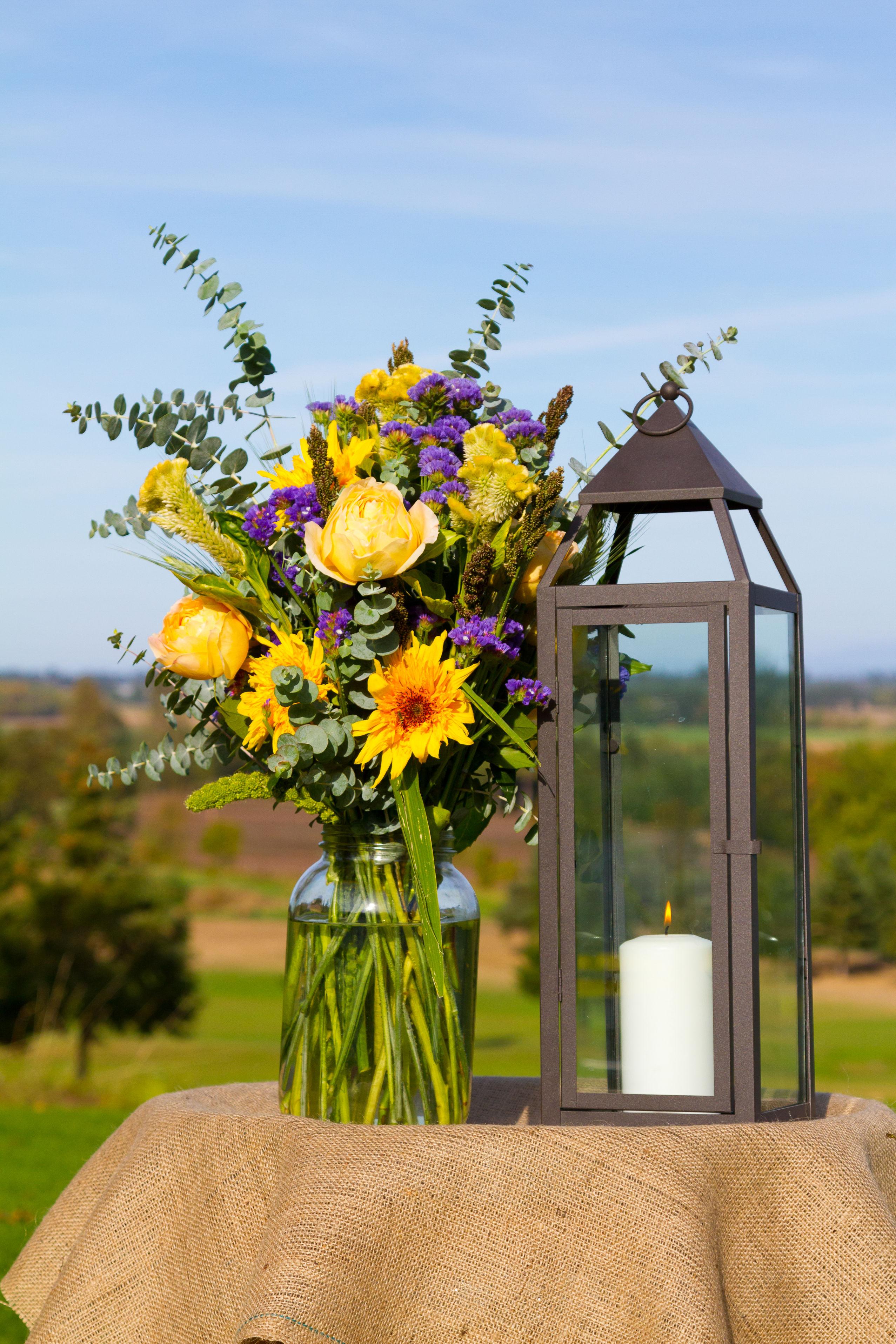 bouquet dans un bocal