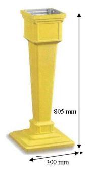dimensions colonne pour boite aux lettres 1950