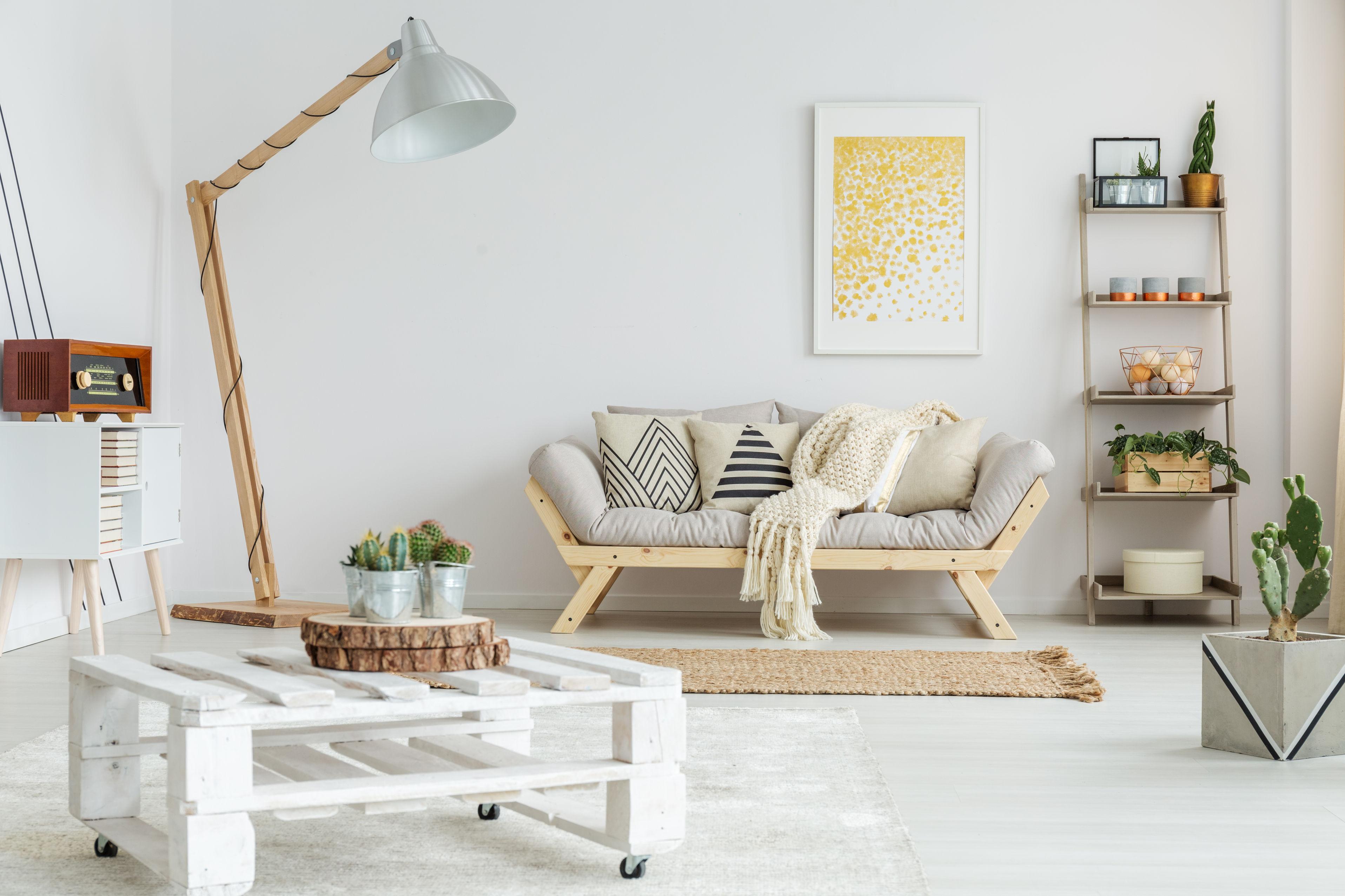 cactus dans un salon nordique