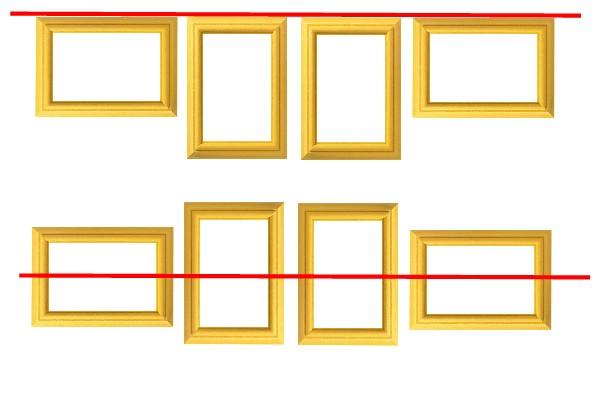 cadre en ligne horizontale haute et milieu