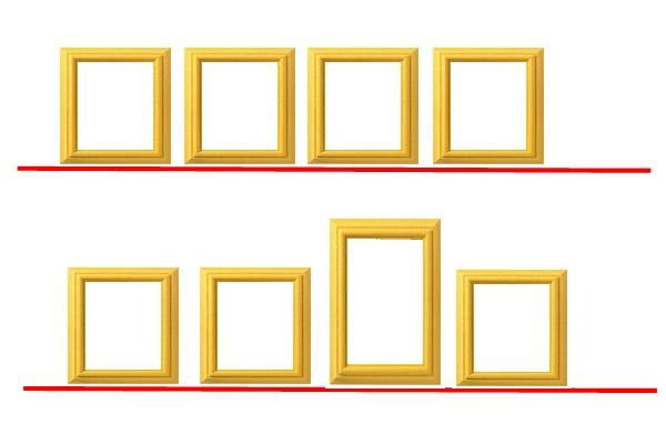 plusieurs cadres sur un mur ide dco avec cadres ides pour dcorer ses murs composition de. Black Bedroom Furniture Sets. Home Design Ideas